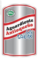 Antioqueno Sin Azucar .750L Aquardiente Colombia