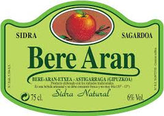 Bere Aran Basque Natural Cider .750L