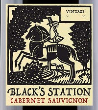 BLACK'S STATION CABERNET SAUVIGNON .750L YOLO COUNTY CALIFORNIA