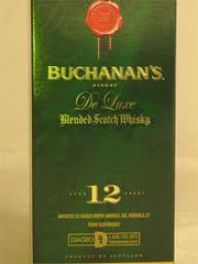 Buchanan's De Luxe 12 Years Scotch Whiskey .750L Scotland