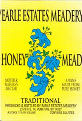 "EARLE ESTATES MEADERY HONEY WINE  ""TRADITIONAL"" .750L NEW YORK"