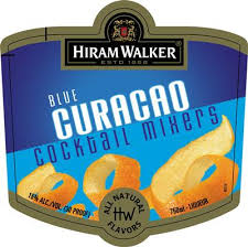 Hiram Walker Blue Curacao .750L