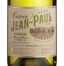 Cuvee Jean Paul Blanc White Blend .750L Gasgony France