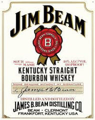 Jim Beam 4 Year White Label Bourbon Whiskey 1.0L Kentucky