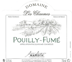 Bardin Les Chaumes 2016 .750L POULLY FUME