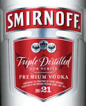 Smirnoff Vodka 80 Proof 1.0L USA