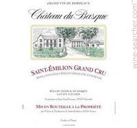 Basque Saint Emilion .750L Grand Cru 2015 Bordeux France