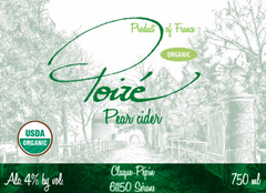Claque Pepin Poire Pear Organic Peary Cider .750L France