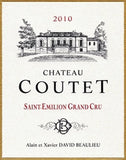 Chateau Coutet Famille David Beaulieu St. Emilion Grand Cru Organic .750L Bordeaux France