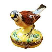 Wild Birds Limoges Boxes-Limoges Box Boutique Porcelain Gifts Hand-Painted