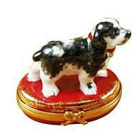 Dogs Porcelain Figurines on Limoges Boxes Gifts