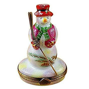 Snowmen Limoges Boxes-Limoges Box Boutique Porcelain Gifts Hand-Painted