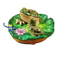 Frogs & Turtles Porcelain Figurines Limoges Boxes