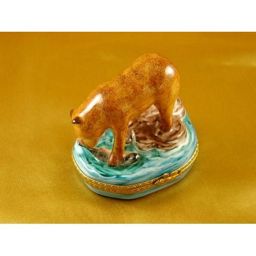 Animal Porcelain Figurines Limoges Boxes