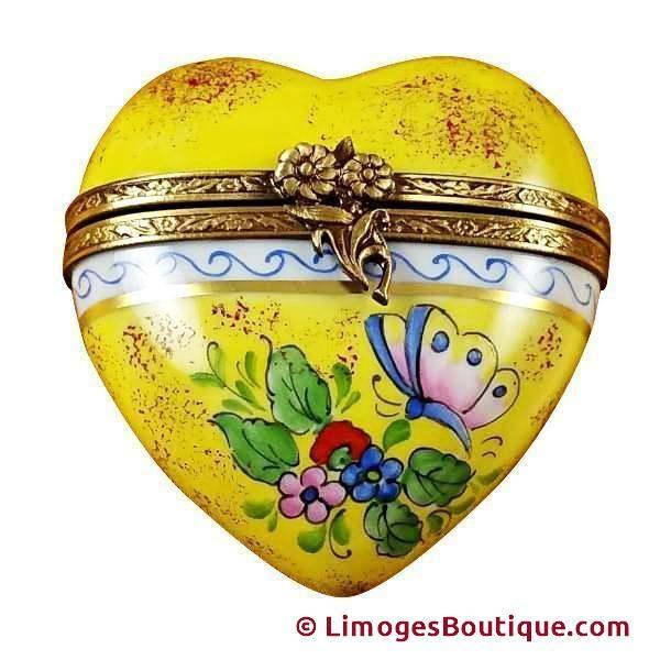 Hearts Limoges Boxes Porcelain Heart Trinket boxes Gifts