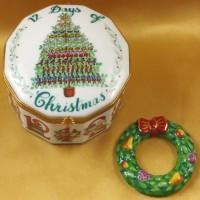 Christmas Limoges Boxes-Limoges Box Boutique Porcelain Gifts Hand-Painted
