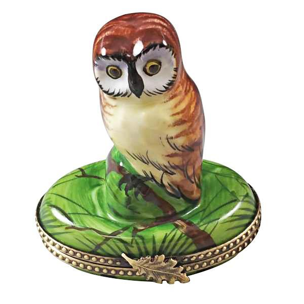 Owl Porcelain Figurines Limoges Boxes