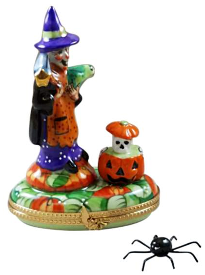 Witch Toad And Pumpkin Rochard Limoges Box