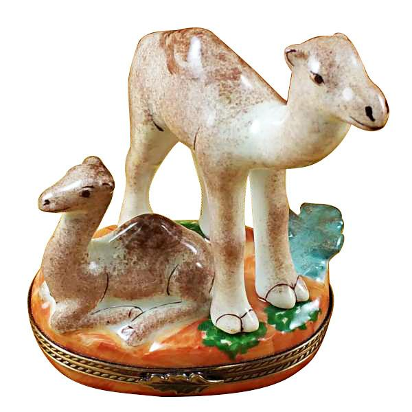 Camel With Baby Limoges Box