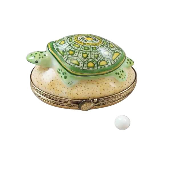 Rochard Turtle w Egg Limoges Boxes Porcelain French - Limoges Boxes Porcelain Figurines