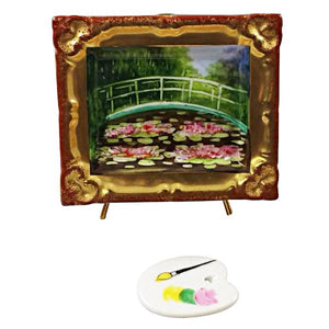 Monet'S Japanese Footbridge Inside Frame With Removable Pallete Limoges Box