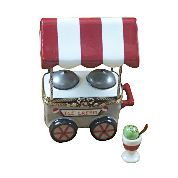 Ice Cream Cart With Removable Ice Cream Cup And Spoon Limoges Boxes Limoges Boxes Porcelain Figurines Collectibles Gifts