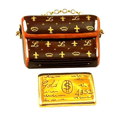 Designer Clutch Purse Credit Card Limoges Box