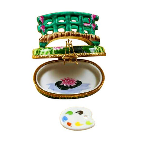 Monet Bridge over Water Lily Limoges Box
