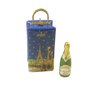 Paris By Night Gift Bag With Bottle Of Champagne