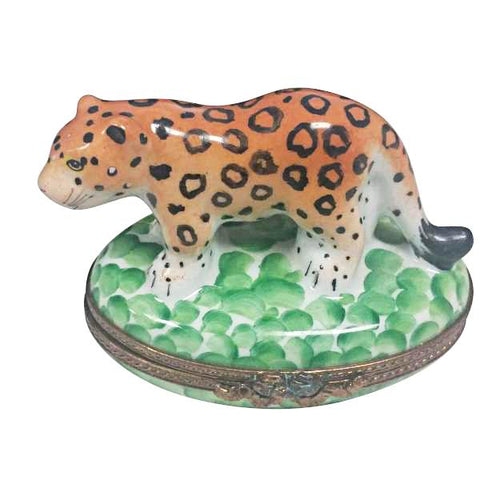 Cheetah Leopard Tiger Wild Animal - Limoges Boxes Porcelain Figurines