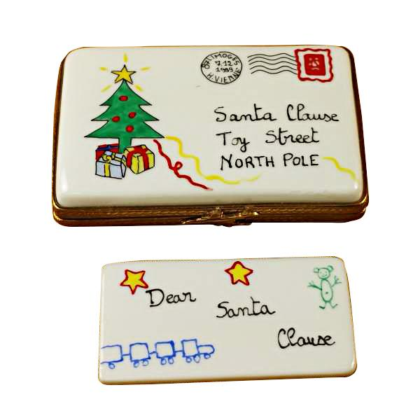 Letter To Santa - Porcelain Limoges Boxes Christmas