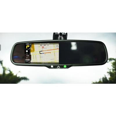 "BOYO VTM43TCA - Replacement Rear-View Mirror with 4.3"" TFT-LCD Backup Camera Monitor, Auto-Dimming and Temperature/Compass Display - Installations Unlimited"