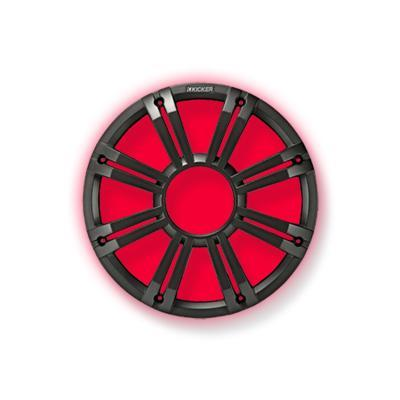 "Kicker 45KMG12C Marine 12"" Subwoofer Charcoal Multi Color Light Sub - Installations Unlimited"