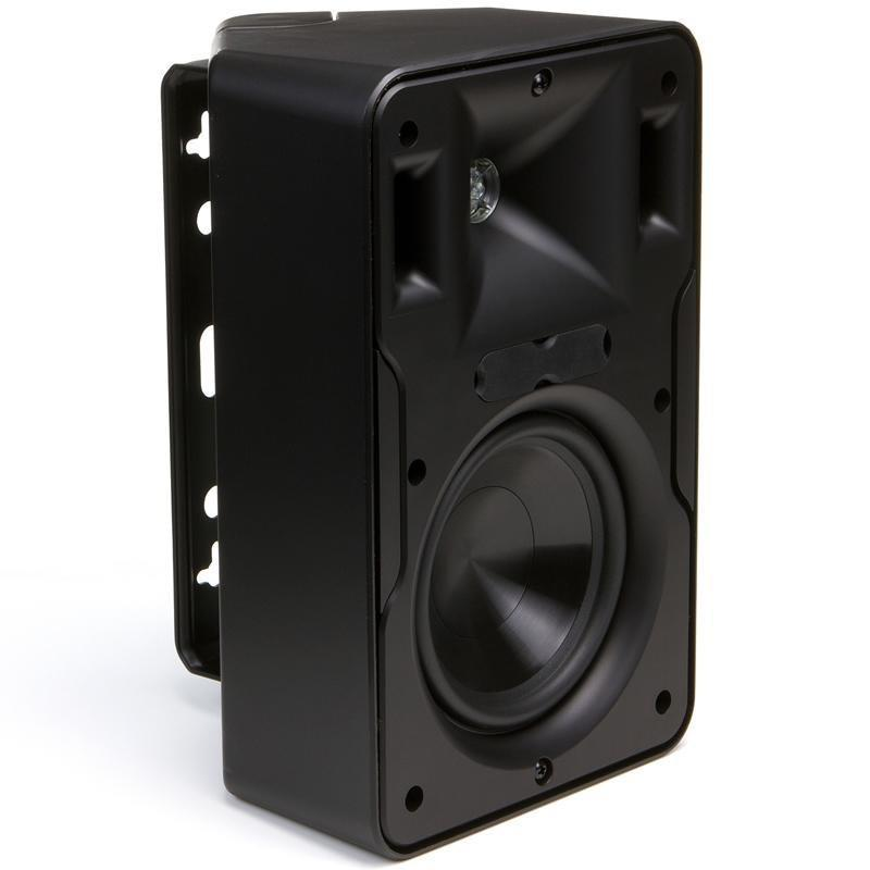 Klipsch CP-6 (B) 75-Watt Indoor/Outdoor Bookshelf Speaker, Black - Installations Unlimited
