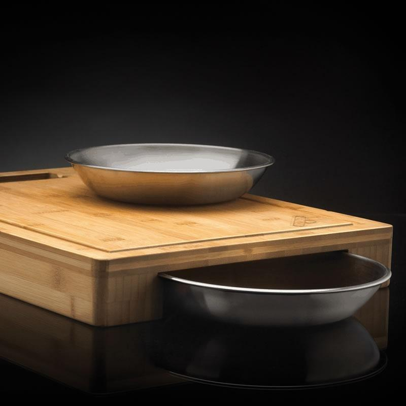 Napoleon Pro Cutting Board with Stainless Steel Bowls - Installations Unlimited