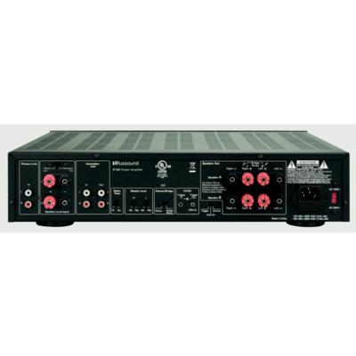 P125 Two-Channel, 125W, Dual Source Amplifier - Installations Unlimited