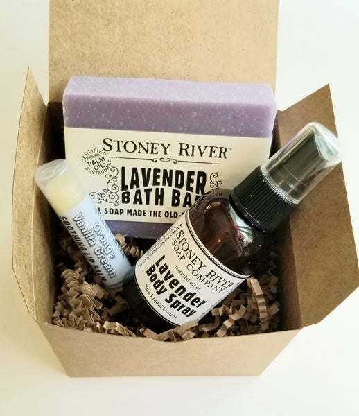 Gift Sets -Bath sets - with 1 soaps of your choice- lip balm- - body spray-