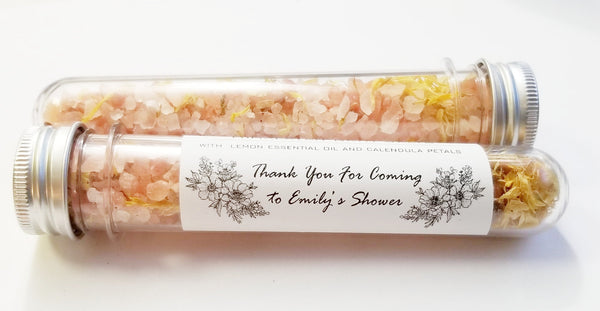 Himalayan salts custom favors, pink salt