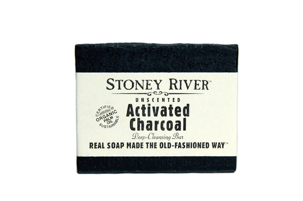 Activated charcoal soap, unscented