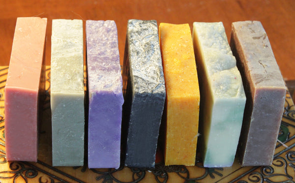 Detox soap set, handcrafted natural cold process about 4-4.5 oz each,  labeled or unlabeled-