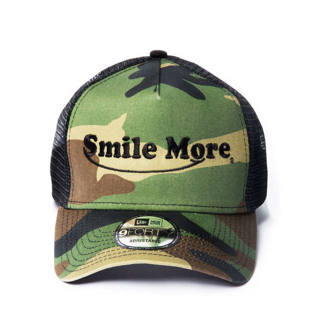 Smile More Camo Hat