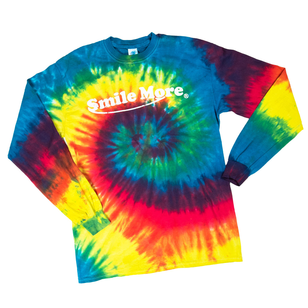 Long Sleeve T-Shirt - Rainbow Tie Dye (All Sizes)