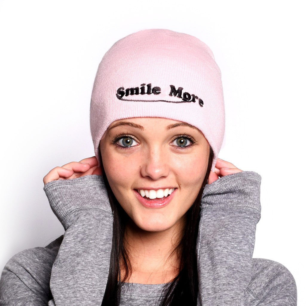 PINK Smile More Beanie :)