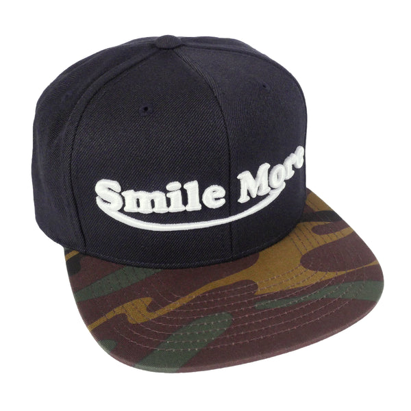 Limited Smile More Black/Camo Snapback