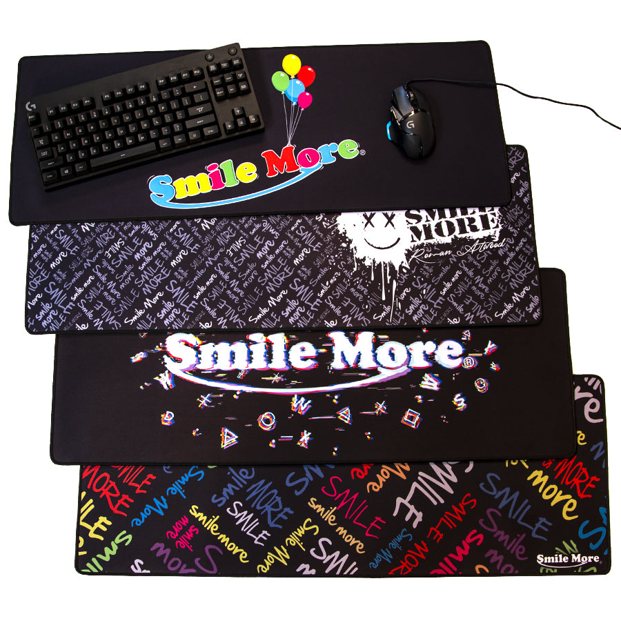 Smile More Mouse Pads - Full Size