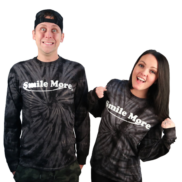 Long Sleeve T-Shirt - Black Tie Dye (All Sizes)