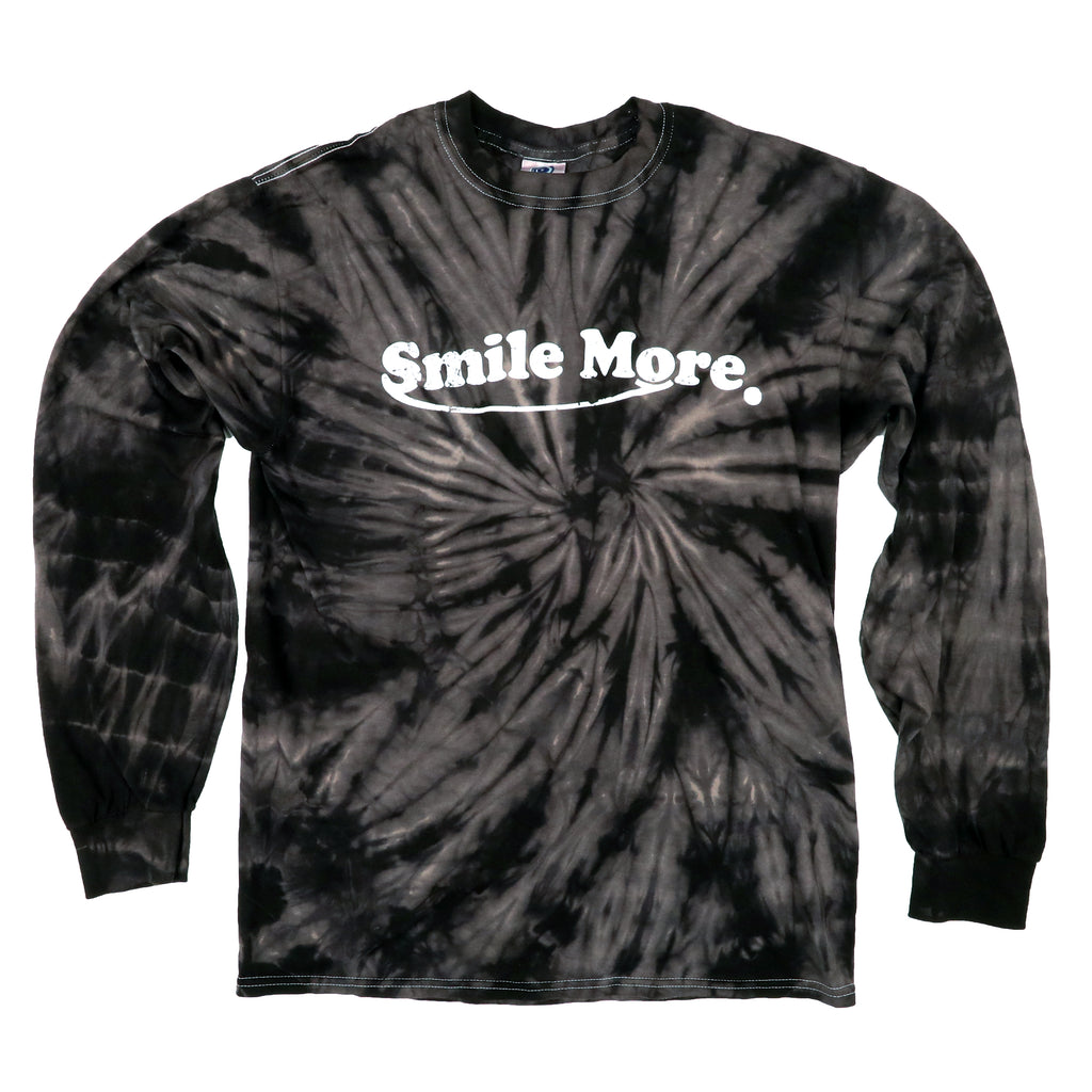 cad5d91f3 Long Sleeve T-Shirt - Black Tie Dye (All Sizes)