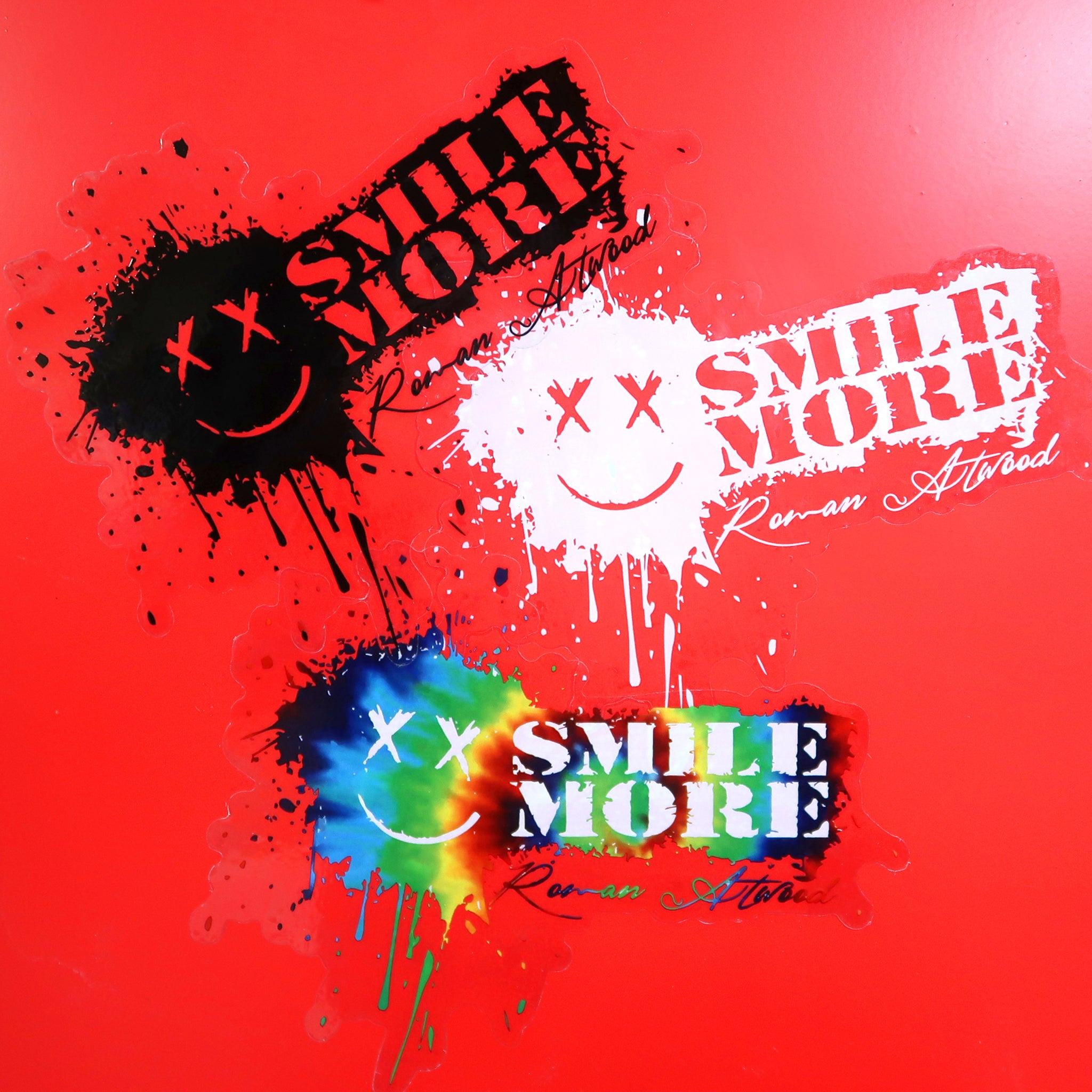 Smile More Splatter Sticker