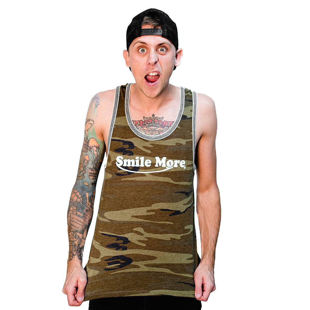 Womans mens tank tops unisex the smile more store for Smile more tattoo
