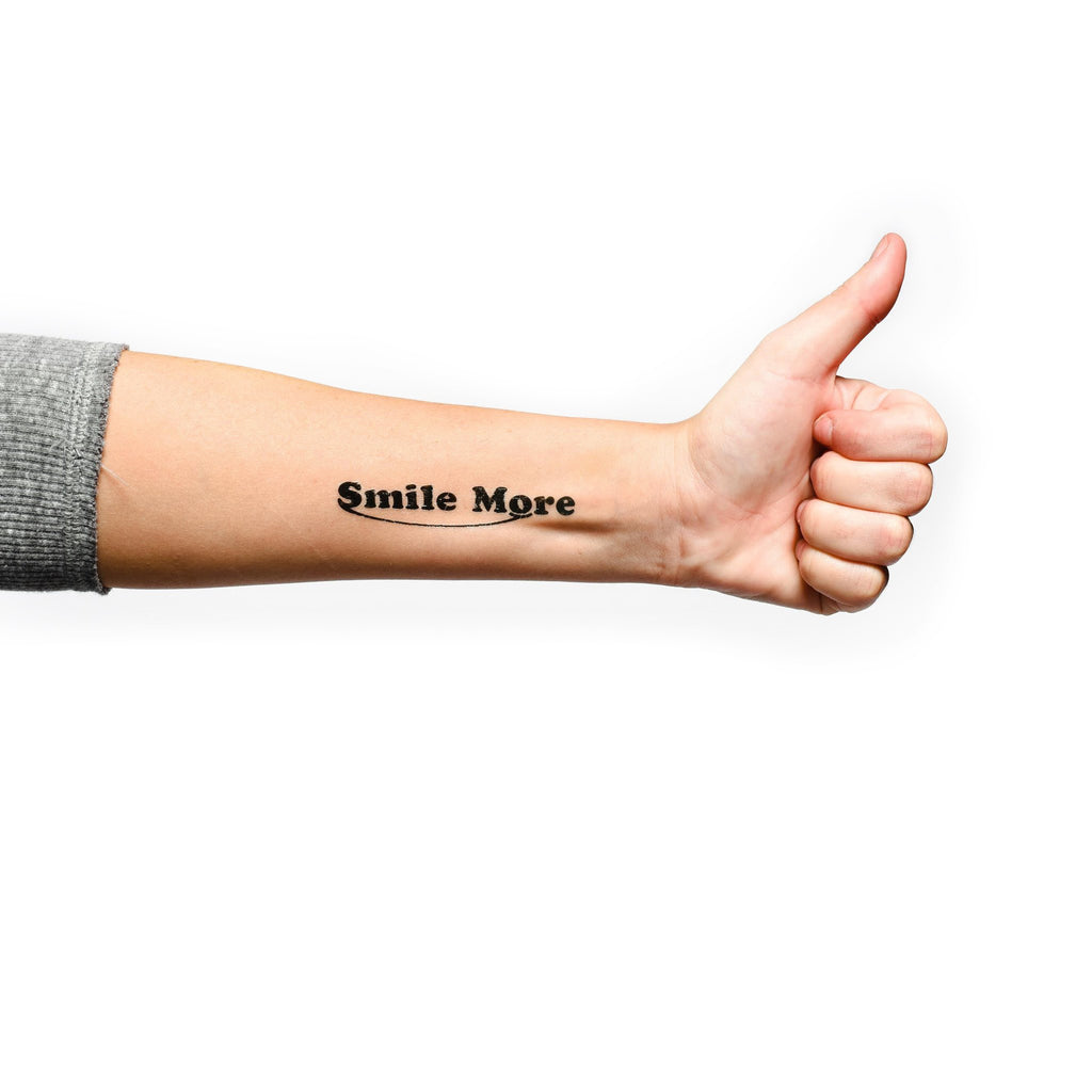 Smile More Temporary Tattoo 4-Pack